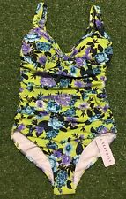 New Seafolly Bella Rose D/DD Cup Maillot In Chartreuse - Size AU8 / US4
