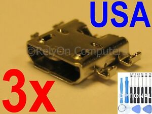 3x Micro USB Charging Port Charger For Asus Google Nexus 7 1st 2nd Gen 2012 2013