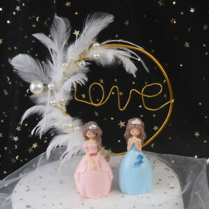 Gold Butterfly Yarn Cake Toppers Bride Baking Sweet Happy Birthday Wedding Decor