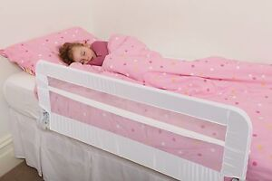 NEW DREAMBABY HARROGATE BED RAIL fully assembled WHITE safety child mesh.
