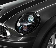 MINI Genuine Left N/S Headlight Headlamp Trim Ring In Jet Black 51132254895