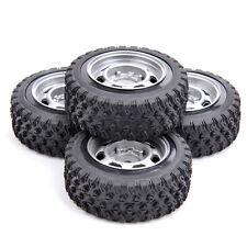 Rally Racing Rubber Tire Rims Set 4Pcs Fit HSP HPI RC 1/10 Off Road Car 12mm Hex