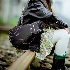 Black Cat Shaped Bag / Mini Size Tote Bag Handbag Shoulder / Cute Kawaii