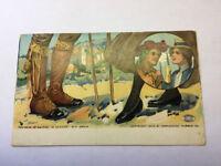 Vintage Souvenir Postcard Woonsocket Rubber Co. Shoes Footwear of Spain 1906