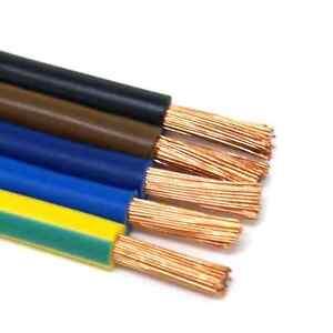 1,60€/m H07V-K 10mm² PVC Aderleitung Verdrahtungsleitung flexibel versch. Farben