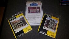 HO Scale DPM and City Classics Building kits. Bank, Store and Market. NIP
