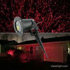 CHRSITMAS/HOLIDAY Garden Laser Light Single Red X-36p w/REMOTE