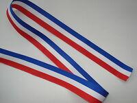 Ruban tricolore BLEU BLANC ROUGE français 15mm vendu au ml conscrits, medaille
