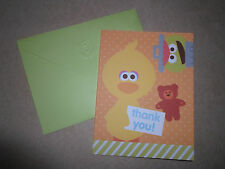 "CUTE Sesame Street Thank You Card & Green Envelope ~5"" X 4"", NEW"