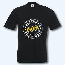 T-Shirt, Fun-Shirt, Bester Papa der Welt, schwarz, Malle, S-XXXL, Textildruck