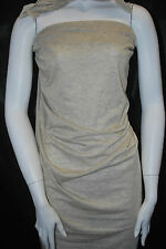 Modal Lurex Spandex Japanese knit shimmer fabric gold / natural knit Extra soft