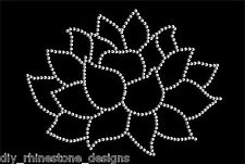 Iron-On Rhinestone Design Lotus Flower  DIY Yoga Peace Transfer Motif  Any Color