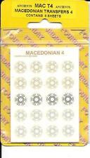 WARGAMES FOUNDRY ANCIENTS. MACEDONIAN  SHIELD TRANSFERS MAC4