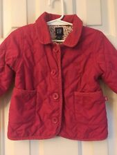 EEUC BABY GAP Girls Pink Down Cloth Lined Jacket Dress Coat Size 18-24 Months 2T