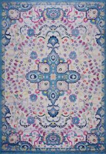 Darcy Parsian Tradional Beautiful Area Rug Carpet in Blue/Pink BAN1338 BAN1339