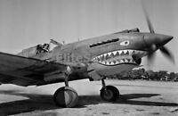 WW2 Photo Pilot in a fighter P-40 Curtiss P-40 Tomahawk The Flying Tiger 180