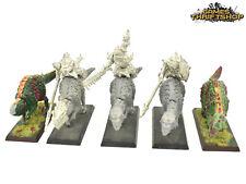 Warhammer Sigmar Lizardmen Saurus Warrior Cavalry / Knights x 3 Part Metal