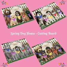 Spring Dog House Cutting Board, Dogs, Cats, Pet Kitchen Vegetable Cutter