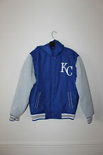New MLB Kansas City Royals Reversible hooded polyester jacket men's S