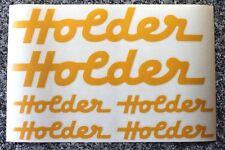 6 x Holder Aufkleber in gelb für Traktor Schlepper uvm.