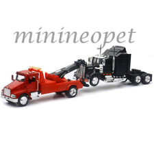 NEW RAY SS-15063 KENWORTH T300 TOW TRUCK Red & KENWORTH W900 CAB Black 1/43