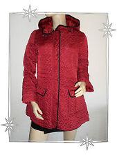 Blouson Veste Fantaisie Matelassée avec Capuche Rouge Paco Boutique Taille S