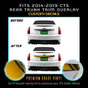 For 2014-2019 Cadillac CTS Rear Trunk Trim Chrome Delete Kit - Chrome Mirror