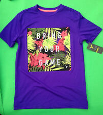 "nwt Old Navy boy's purple go dry graphic""bring your game"" T-shirt size -8(M)"