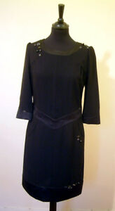 BNWT Genuine Designer Black Dress by Moschino Jeans Size 44 (UK Size 12)