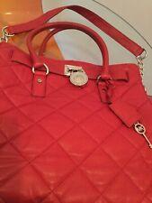 Michael Kors Large Handbag/sholder Quilted Red Leather Genuine