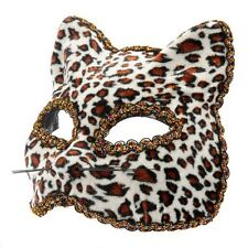 Leopard Vénitien Masquerade Masque Masque de Chat Halloween Robe Fantaisie Féline eyemask