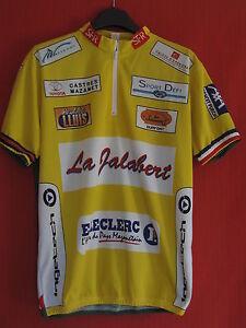 Maillot cycliste La Jalabert Castres Mazamet SFR Jaune vintage shirt - M