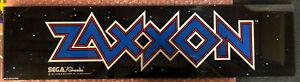 "Original 1982 Sega Gremlin Zaxxon Marquee Arcade Plexiglass 23 7/8"" x 6"