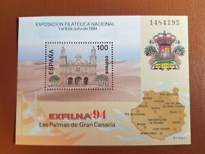 España 1994. Hoja Bloque Exfilna 94_ bajo Facial