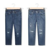 Boys Denim Jeans Kids Stretch Pull On Distressed  Elasticated Waistband