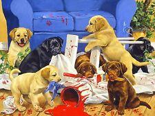 PUPPY DOG MAYHEM MOSAIC DIAMOND PAINTING PAINT BY NUMBERS KIT 5D CROSS STITCH