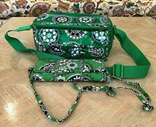 2 FOR 1 VERA BRADLEY CUPCAKES GREEN LUNCH OR TRAVEL COOLER & TRAVEL WALLET