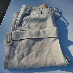 Harolds Tan Brown 100% Linen Walking Travel bermuda Shorts Womens Size 14