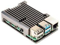 Aluminium Heatsink Case for Raspberry Pi 4, Gunmetal - PIMORONI