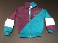Vintage Mighty Ducks NHL Hockey Jacket Coat Kid YOUTH Small HOLE 90s Disney K38