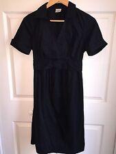 USED MOTHERHOOD MATERNITY DRESS SZ M MEDIUM STRETCH BLACK CAREER WEAR