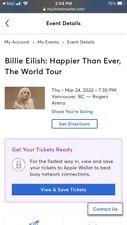 X1 Billie Eilish Ticket (Vancouver, 2022)