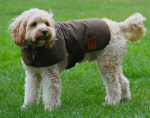 Australian Oilskin Waterproof dog coat jacket 40cm XLarge sherpa lining NEW