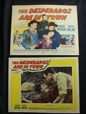 DESPERADOS ARE IN TOWN Lobby card set ROBERT ARTHUR KATHY NOLAN 1956 western