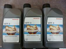 Genuine Honda MTF-3 Gearbox Oil Fluid 3x1Lt (Civic Jazz Accord CRV HRV S2000)