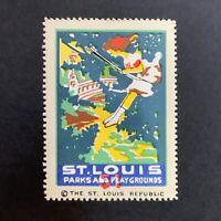 Poster Stamp * USA * 1915 Saint Louis Advertising St