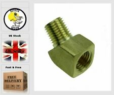 """45 Degree 1/4"""" NPT Brass Elbow Oil Fitting Fuel Air Gas Water Oil UK G35"""