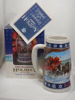 BUDWEISER 1995 Special Delivery Holiday Beer Stein Ceramarte Brazil - NIB