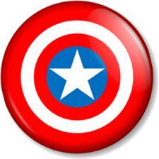 "Captain America Shield Superhero 25mm 1"" Pin Button Badge Marvel Comics Avengers"