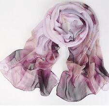 New fashion women summer long chiffon silk scarves theme lotus